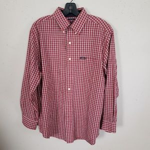 Chaps Ralph Lauren Plaid Button Down Shirt Men M